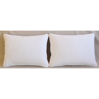 "French Provençal Quilted Feather/Down Pillows 23"" X 17"" - Pair Preview"