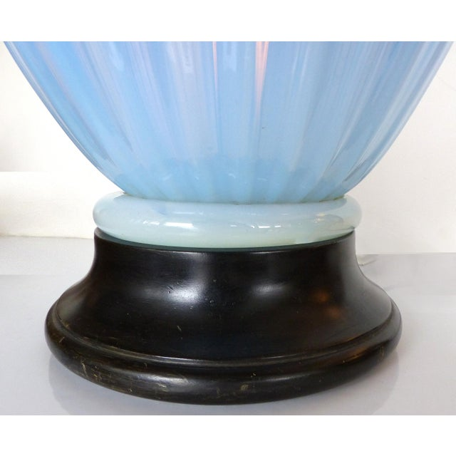 Blue Murano Glass Table Lamp by Marbro For Sale In Miami - Image 6 of 9