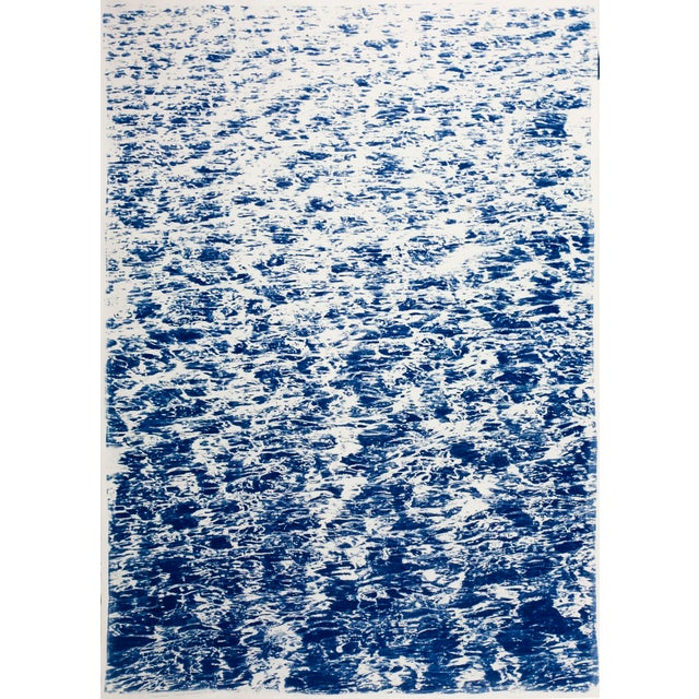"""Triptych """"The Cove"""" / Cyanotype Print on Watercolor Paper / Limited Edition / 100 X 210 CM For Sale - Image 4 of 12"""