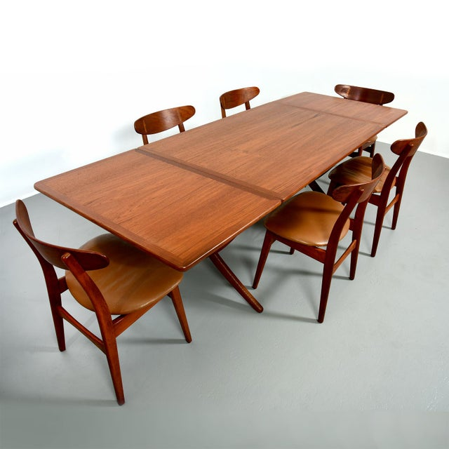 Hans Wegner Dining Set, Model At-304 Dining Table and Model Ch-30 Dining Chairs For Sale - Image 10 of 10