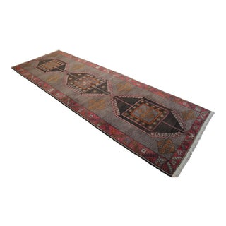 Hand Knotted Natural Colors Tribal Rug Wide Long Runner - 5′3 ″ x 15′7″