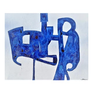 """""""Blue Sculpture"""" by Kenneth Joaquin (B. 1948) For Sale"""