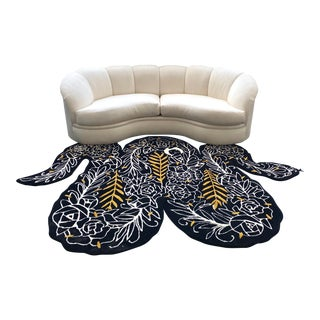 1980s Kidney Shaped Sofa Designed by Vladimir Kagan for Directional For Sale