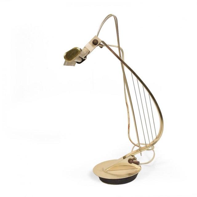 Mid-Century Modern Sculptural Harp Shape Table / Desk Lamp For Sale - Image 10 of 10