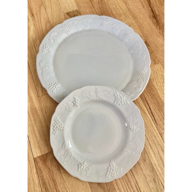 Farmhouse 1950s Harvest Milk Glass Torte & Serving Plates by Colony - a Pair For Sale - Image 3 of 13