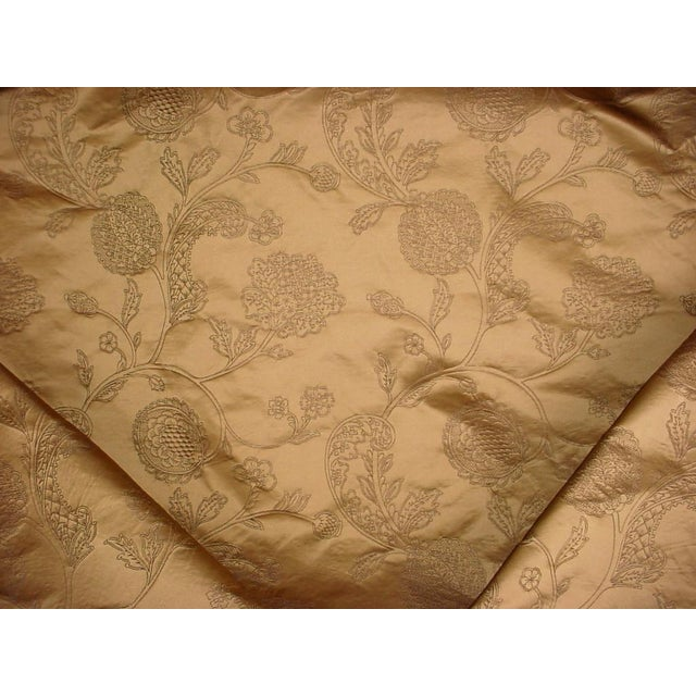 2020s 17-3/4 Kravet Couture 30723 Gold Gothic Jacobean Silk Damask Upholstery Fabric For Sale - Image 5 of 5