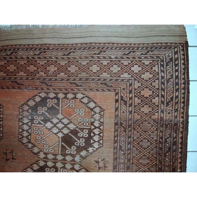 1900s handmade antique Afghan Ersari rug 8.6' X 11.8' For Sale - Image 5 of 13
