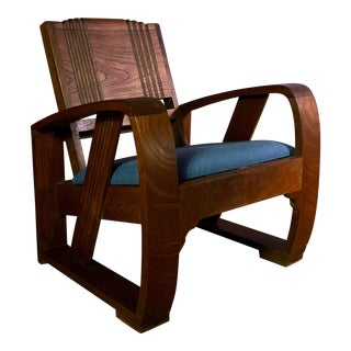 1930s Solid Teak Veranda Chair, Danish Colonial Indonesia For Sale