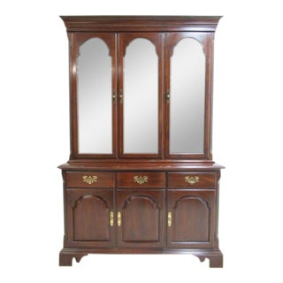 Ethan Allen Georgian Court Breakfront Cabinet For Sale