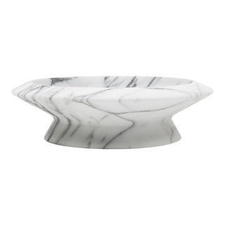 Centerpiece in White Arabescato Marble by Ivan Colominas, Made in Italy For Sale
