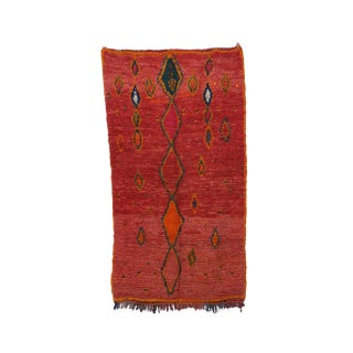 """1970s Moroccan Boujad Rug - 5'4"""" X 8'10"""" For Sale"""