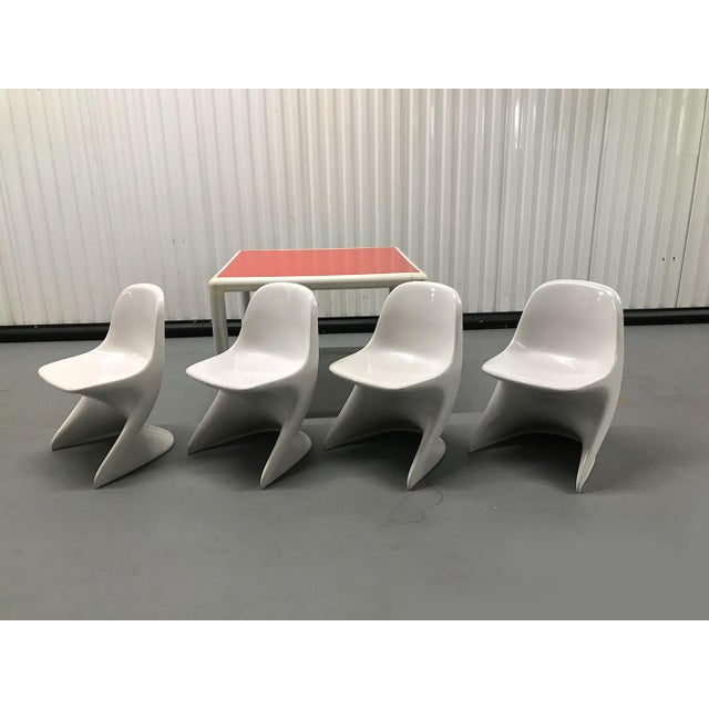 Children's 1970s Child's Table and Casalino Stacking Chairs For Sale - Image 3 of 11