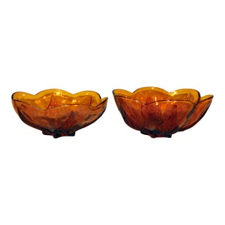 Anchor Hocking Renaissance Bowls - A Pair For Sale
