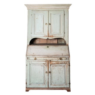 Late 18th Century Swedish Secretary Cabinet With Historic Paint For Sale