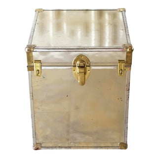 1970s Brass Trunk For Sale