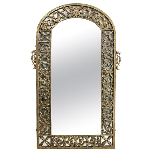 Bronze Oscar Bach Bronze Wall Mirror For Sale - Image 8 of 8