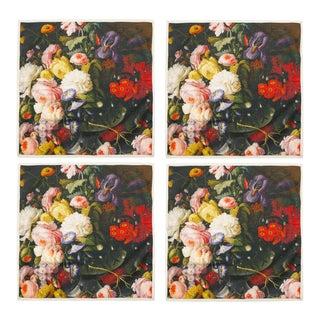 Bouquet Dinner Napkins - Set of 4 For Sale