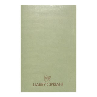 """""""Harry Cipriani"""" Book For Sale"""