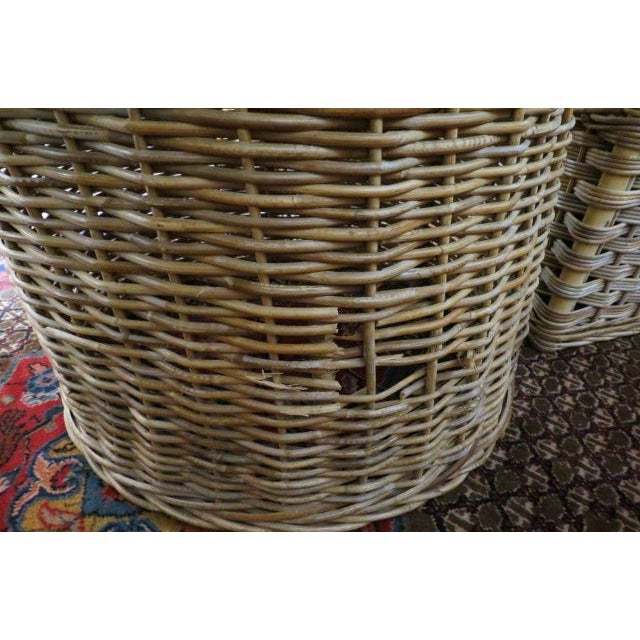 Vintage Boho Chic. Wicker Dining Set With Marble Top - 5 Pieces For Sale - Image 4 of 8