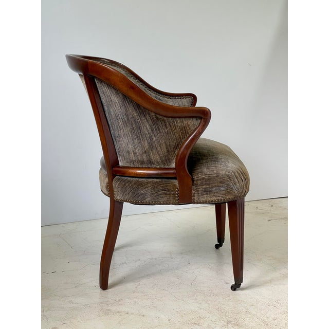Mid 20th Century Art Deco Armchair of Mahogany, Circa 1940s For Sale - Image 5 of 13