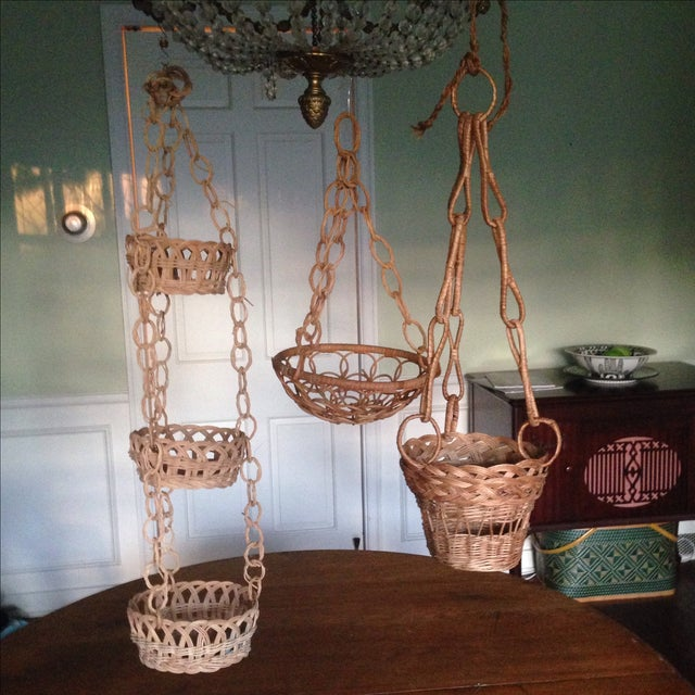 Vintage Plant Hanging Baskets - S/3 - Image 2 of 7