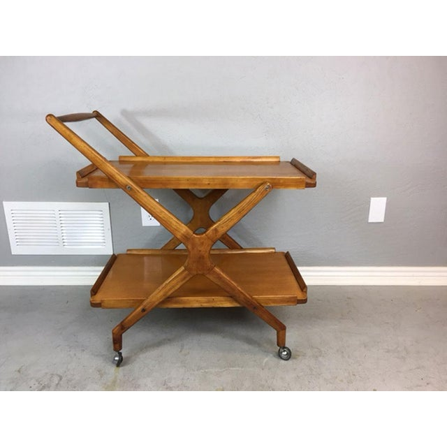 Italian Fruitwood Bar Cart - Image 3 of 9