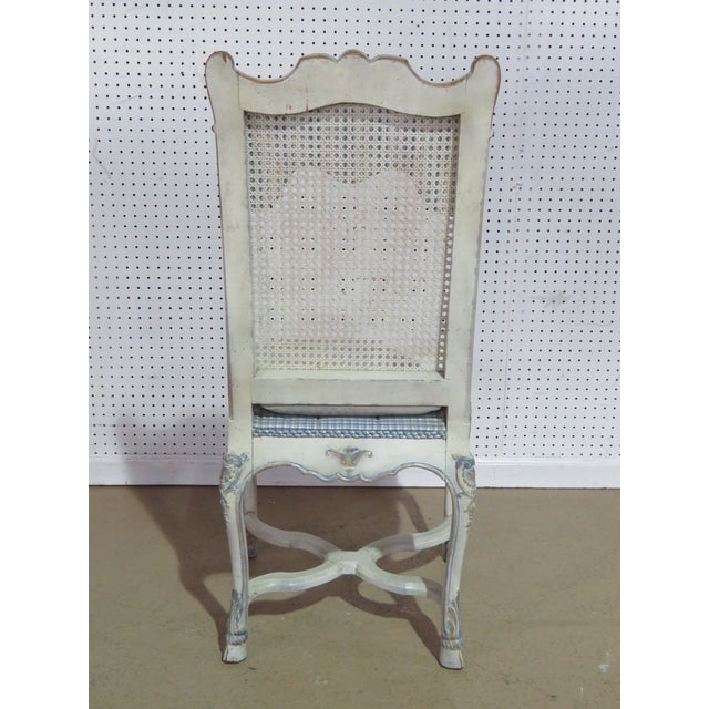 Mid-Century Modern Swedish Rococo Style Desk Chair For Sale - Image 3 of 9