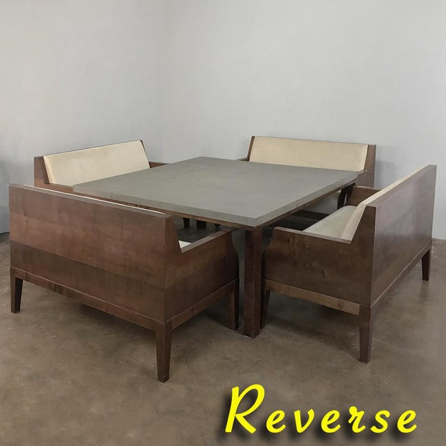 Mid-Century Modern Designer Table & 4 Matching Benches by Christian Liaigre For Sale - Image 3 of 13