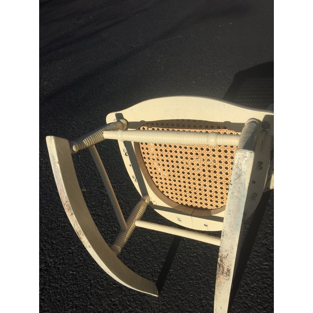 Wicker Antique Victorian Wicker Childs Rocking Chair For Sale - Image 7 of 9