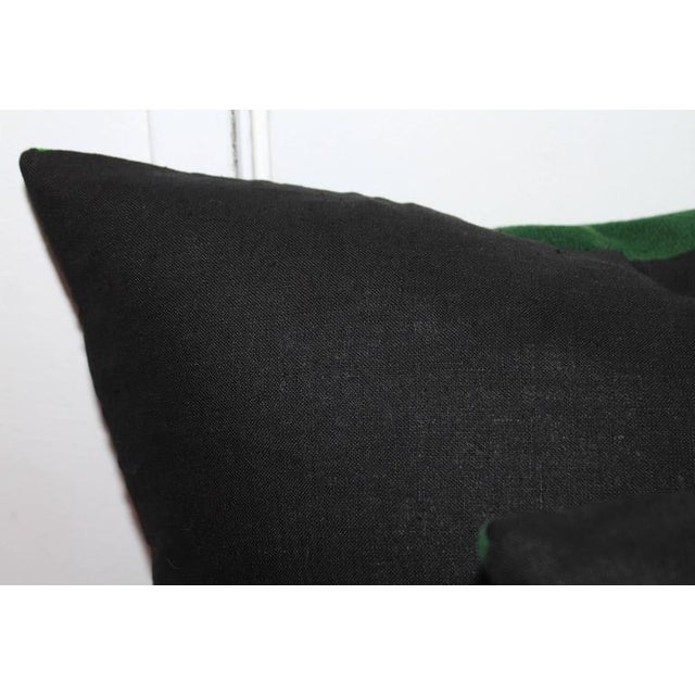 1930s Pair of Mexican Handwoven Serape Pillows For Sale - Image 5 of 5