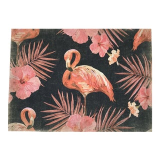 "Hand Painted French Panel "" Flamingo"" For Sale"