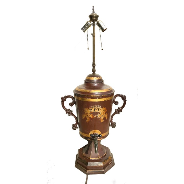 Early 19th Century Unique Early 19th C. English Tole Lamp For Sale - Image 12 of 12