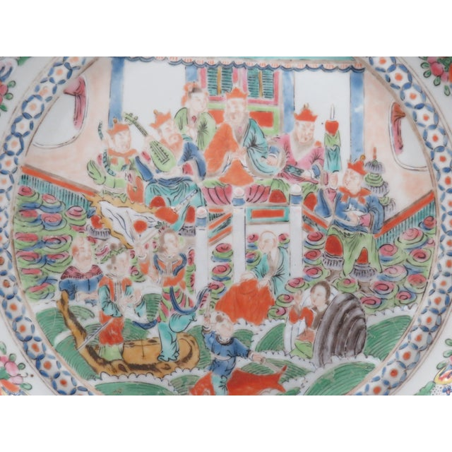 Antique Chinese Mandarin Plates - a Pair For Sale - Image 4 of 6