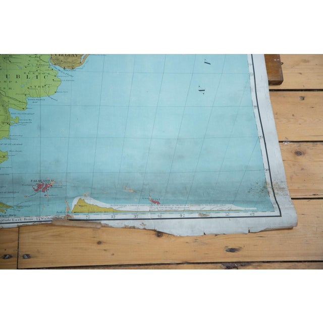 Vintage Pull Down Map of South America For Sale - Image 4 of 9