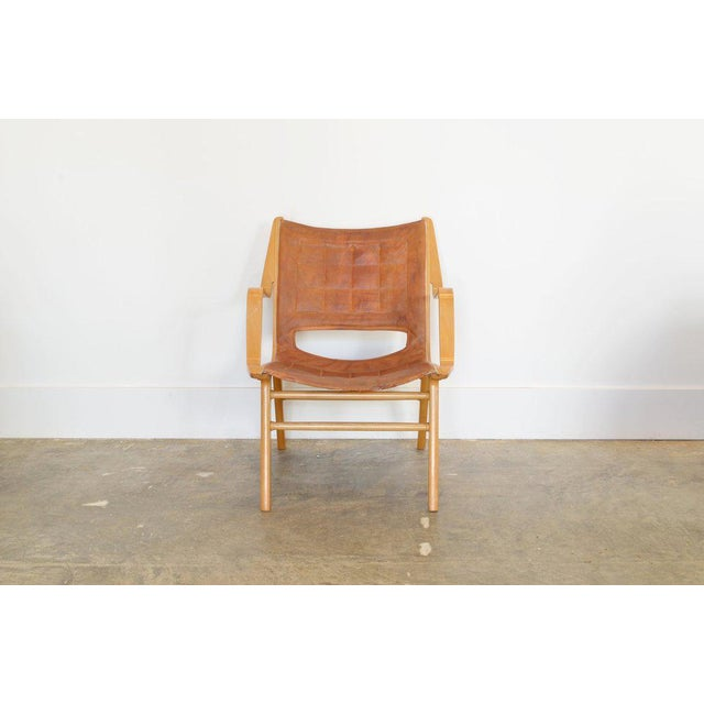Brown Ax Lounge Chair by Peter Hvidt & Orly Mølgaard-Nielsen, 1947 For Sale - Image 8 of 8