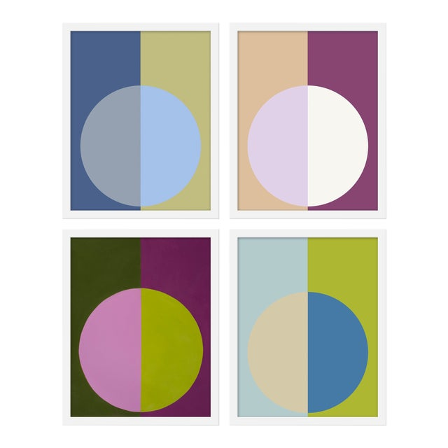 "Medium ""Cool Forevers"" Print by Stephanie Henderson, 32"" X 40"" - Set of 4 For Sale"