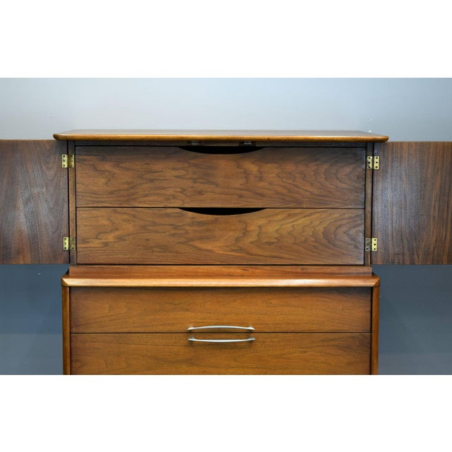 On Hold - Kent Coffey Walnut Highboy Dresser - Image 6 of 11