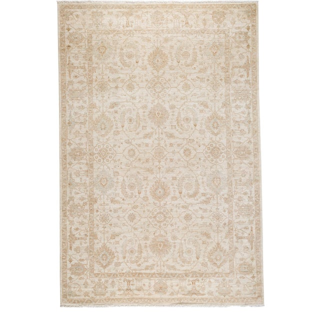 """Oushak, Hand Knotted Area Rug - 6'1"""" X 9' For Sale"""