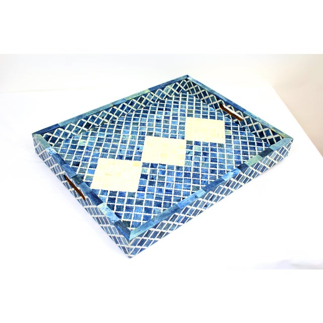 Contemporary Fantasy II Tray, Large For Sale - Image 3 of 3