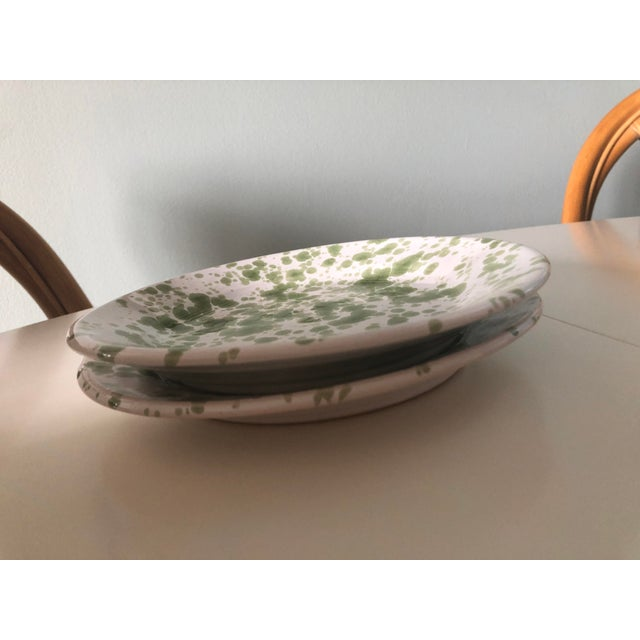 Penny Morrison Green Speckled Ceramic Plates - a Pair For Sale In New York - Image 6 of 7