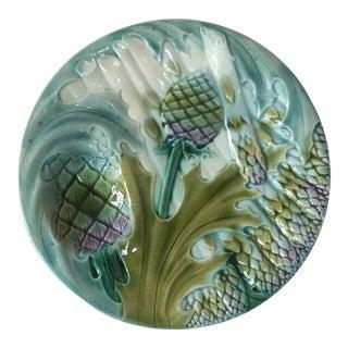 Luneville Majolica Asparagus Plate
