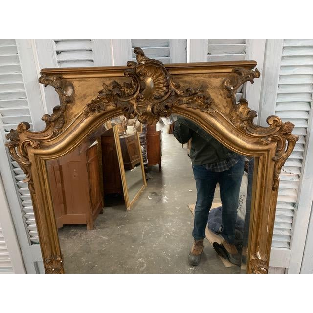 Gold 18th Century Grand Napoleon III Wall Mirror For Sale - Image 8 of 11