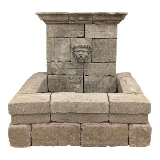 French Limestone Bacchus Fountain For Sale