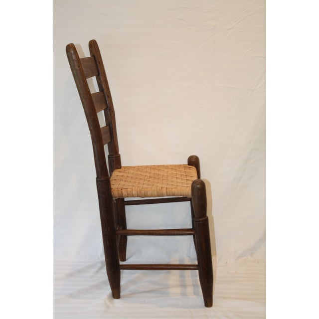 Rustic Ladder Back Chair With Split Oak Seat - Image 4 of 7