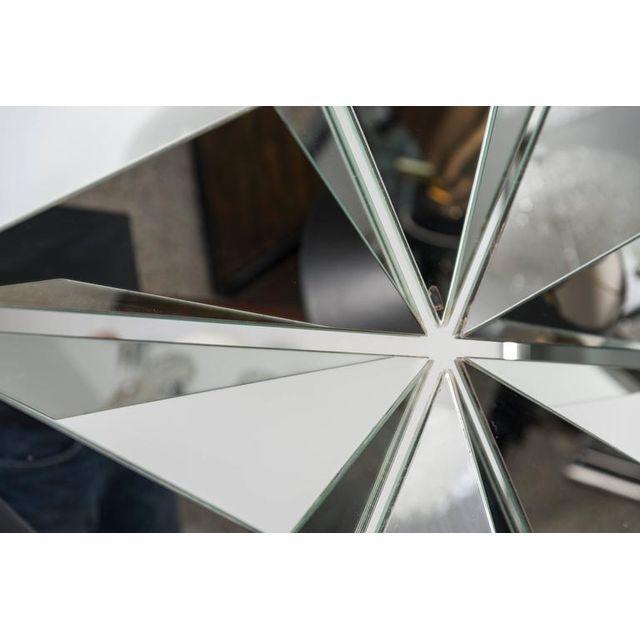Chrome Polished Chrome Polygon Shaped Wall Mirror For Sale - Image 7 of 10