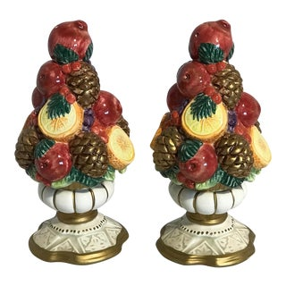 Christmas Pinecone Salt & Pepper Shakers - A Pair