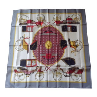 """Classic Hermes """"Les Voitures a Transformation"""" Scarf For Sale"""