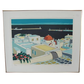 Mediterranean Cityscape Print For Sale