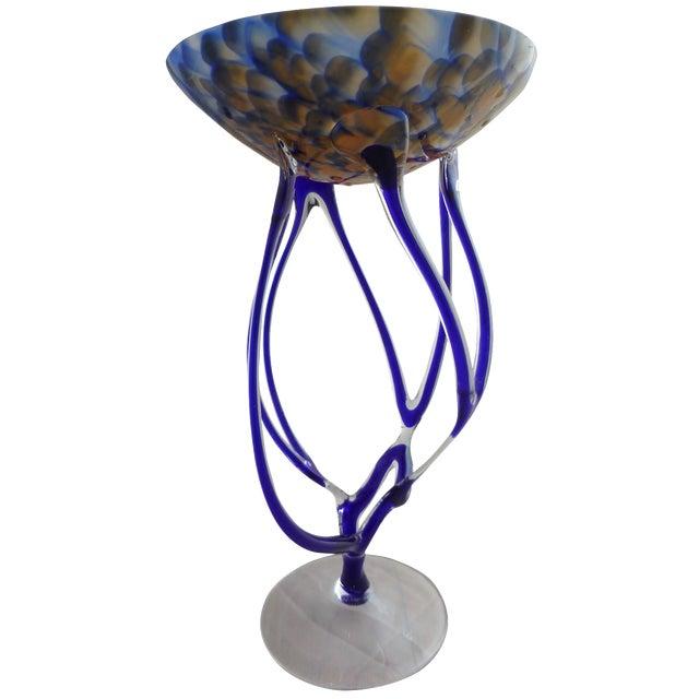 Josefina, Krosno Poland Footed Glass Compote - Image 1 of 8