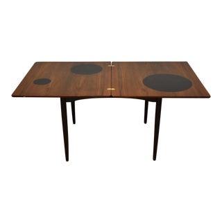 Danish Modern Flip Top Table For Sale